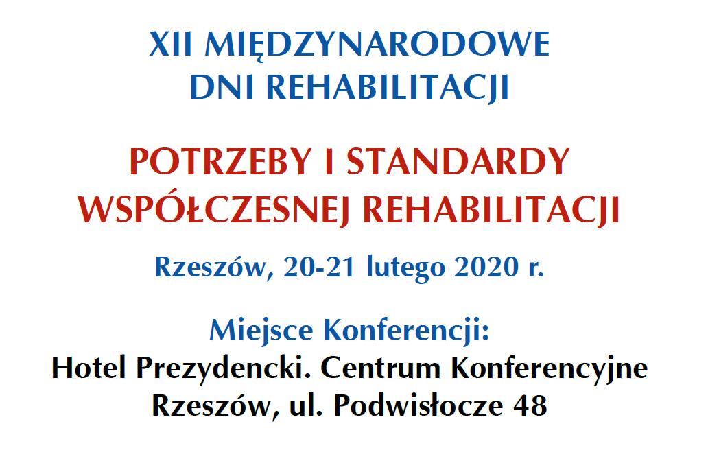 XII Międzynarodowe Dni Rehabilitacji